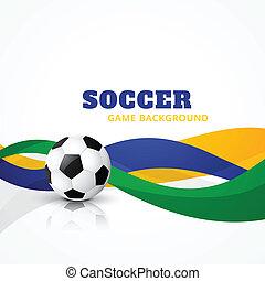 creative soccer vector background