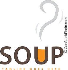 creative soup logo design