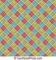 creative square strip pattern