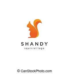 Creative squirrel logo design
