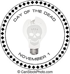 Creative stamp Day of the Dead