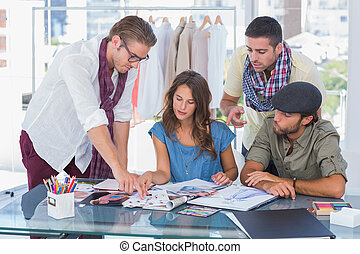 Creative team at work