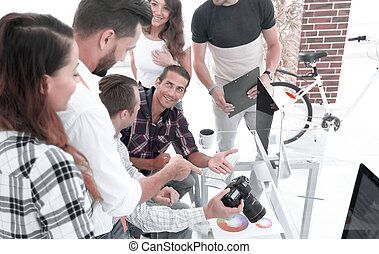 creative team discussing new ideas