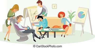 Creative team working
