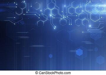 Creative tech background - Creative glowing tech background...