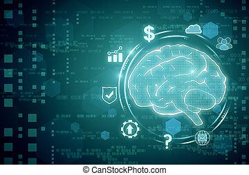 Creative tech brain backdrop