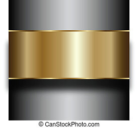 Creative technological background. Metal Abstract vector...