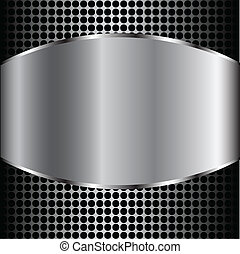 Creative technological background. Metal silver Abstract vector background