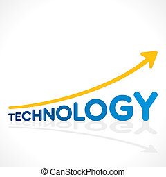 creative technology word graph design vector