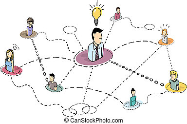 Creative thinking teamwork / Idea process or brainstorming