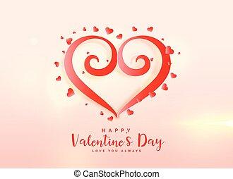 creative valentine's day heart design background