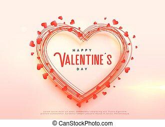 creative valentine's day hearts background design