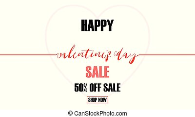 Creative Valentines day sale vector illustration background.