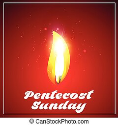 creative vector abstract for Pentecost Sunday with nice and creative illustration in a background.