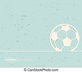 Creative vector Ball football. Art illustration template background. For presentation, layout, brochure, logo, page, print, banner, poster, cover, booklet, business infographic, wallpaper, sign, flyer