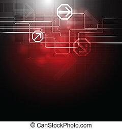 Creative vector hi-tech design with arrows