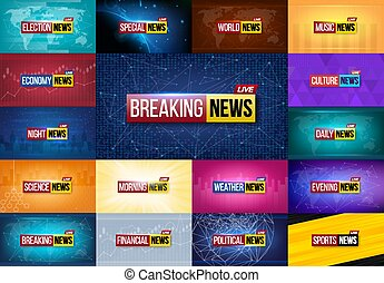 Creative vector illustration of breaking news background....