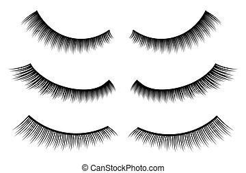 Creative vector illustration of false eyelashes, female...