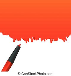 Creative vector illustration of highlighter pen with scribbles isolated on a white background. Stain artistic artwork art design. Place for your text. Abstract concept graphic element
