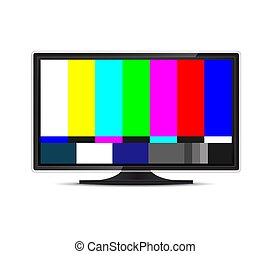 Creative vector illustration of no signal TV test pattern background. Television screen error. SMPTE color bars technical problems. Art design. Abstract concept graphic element
