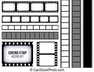 film strip set. collection of film for the camera. cinema, Powerpoint templates