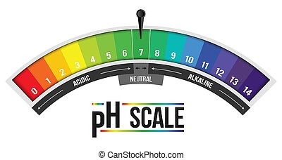 Creative vector illustration of pH scale value isolated on...