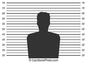 Creative vector illustration of police lineup, mugshot...