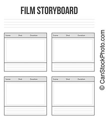 Creative vector illustration of professional film storyboard...