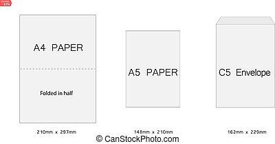 creative vector illustration of white blank paper envelopes template