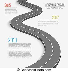 Creative vector illustration of winding curved road. Art...