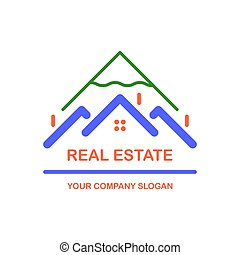 Creative vector logo. Real estate icon.