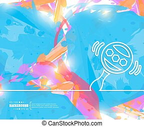 Creative vector rattle. Art illustration template background. For presentation, layout, brochure, logo, page, print, banner, poster, cover, booklet, business infographic, wallpaper, sign, flyer.