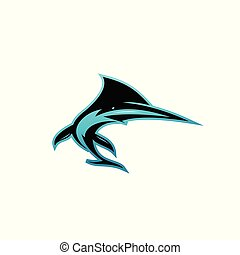 Creative vector symbol of shark.