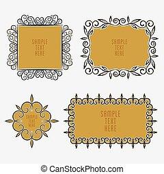 vintage sticker or label design