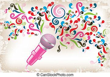 Creative voice - Art poster of creative voice - eps10 vector...