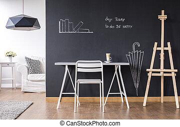 Creative wall idea - Shot of a modern creative studio ...