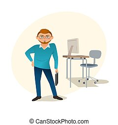 creative web designer - Business character concept. Freehand...