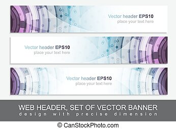 Creative web header or banner for your project. Design with ...