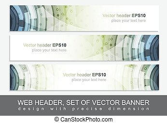 Creative web header or banner for your project. Design with...