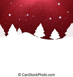 Creative Winter Christmas Background Design