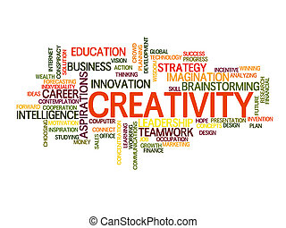 Creative word cloud