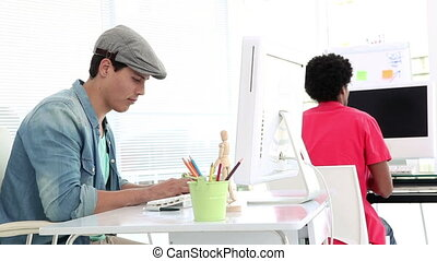 Creative worker working