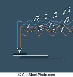 Creative writing and storytelling, music creation concept