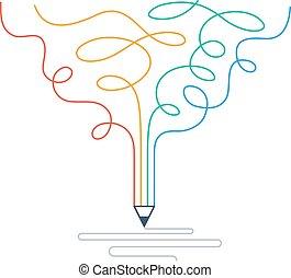 Creative writing, storytelling, graphic design studio symbol...