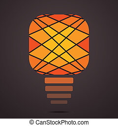 creative yellow bulb background