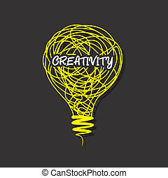 creatività, creativo, parola, bulbo