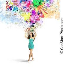 creatività, moda, esplosione