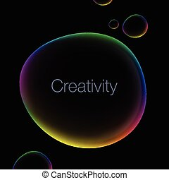 Creativity abstract background with speech bubble