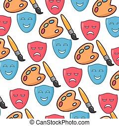 creativity art masks palette background