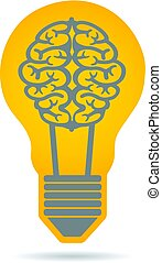 Creativity Brain Idea Logo Illustration